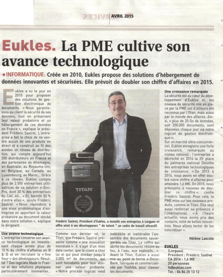 Presse hebdomadaire régionale - le Journal Des Entreprises - JDE n° 337.