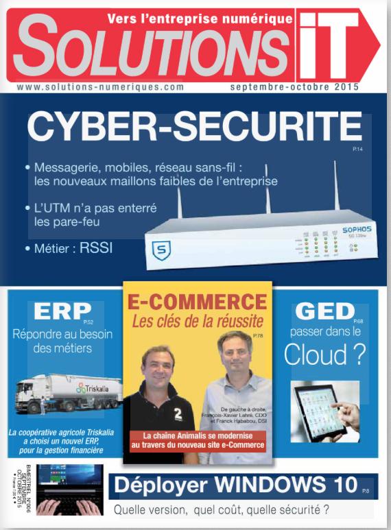 Presse magazine spécialisée - Solutions IT n°6 - Cas client page 74 & 75