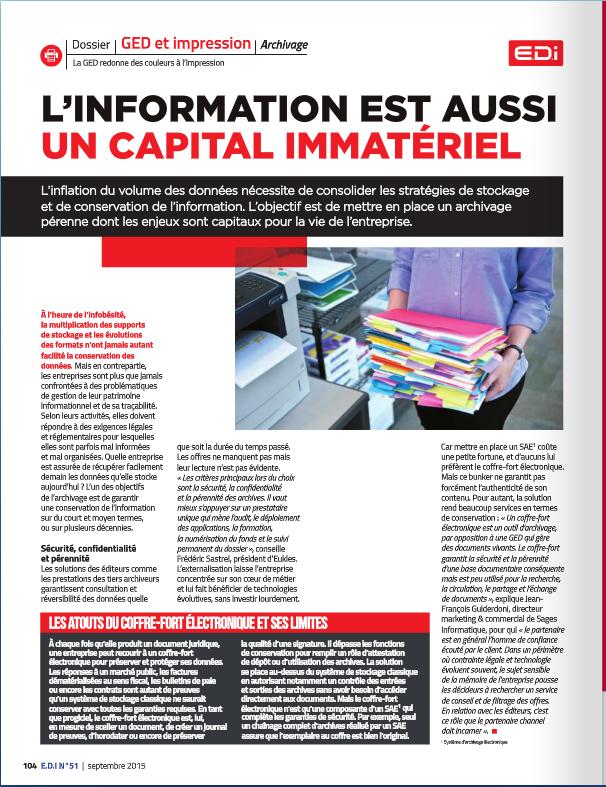 Presse magazine spécialisée - EDIn°51 - Mise en avant des points du TITAN®